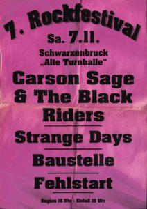 Poster - Festival - Carson Sage - Fehlstart - FrankenPunk