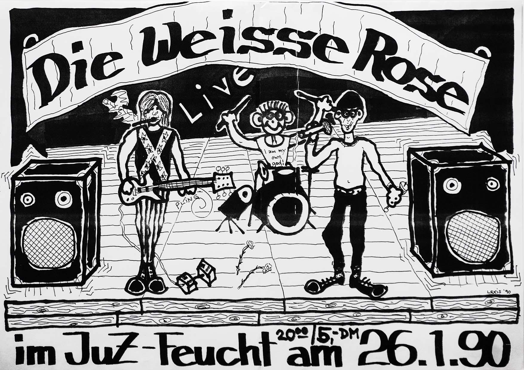 Poster - Die Weisse Rose - 1990
