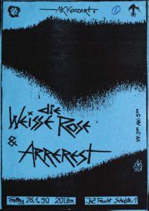 Poster - Die Weisse Rose - JuZ Feucht - 1990