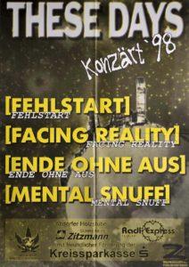 Poster - Fehlstart - Ende ohne Aus - JuZ Feucht - 1998