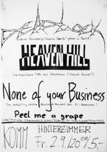 Poster - Heaven Hill - None Of Your Business - Deadlock - Komm
