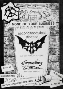 Poster - Something To Burn - None Of Your Business - Kunstverein - 1988