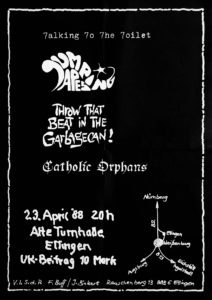 Poster - Talkin To The Toilet - Ellingen - 1988 - FrankenPunk