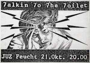 Poster - Talkin To The Toilet - JuZ Feucht - 1988 - FrankenPunk