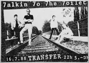 Poster - Talkin To The Toilet - Transfer - 1988 - FrankenPunk