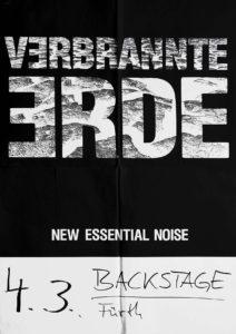 Poster - Verbrannte Erde - Backstage - Fürth - 1991 - FrankenPunk