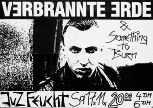Poster - Verbrannte Erde - Something To Burn - JuZ Feucht - 1990 - FrankenPunk