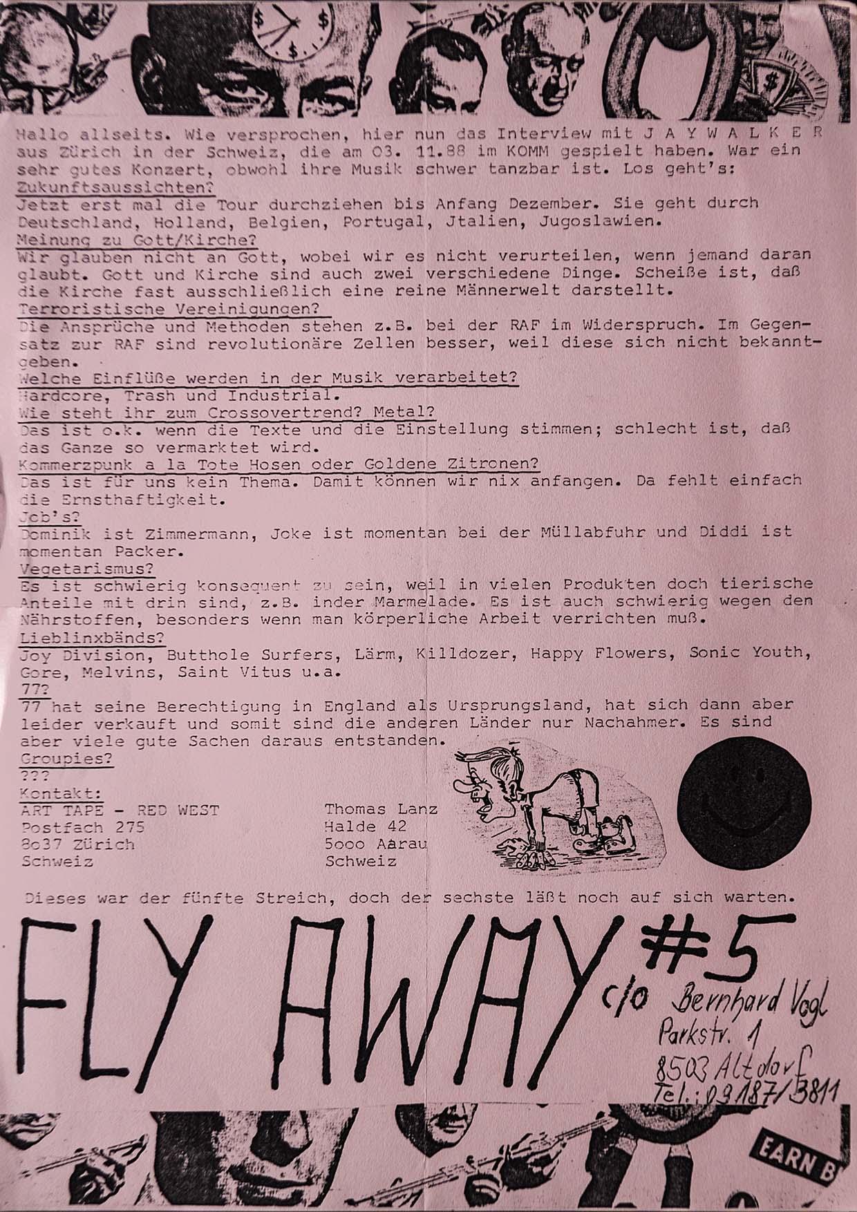 Fanzine - Fly Away - Ausgabe 5 - FrankenPunk