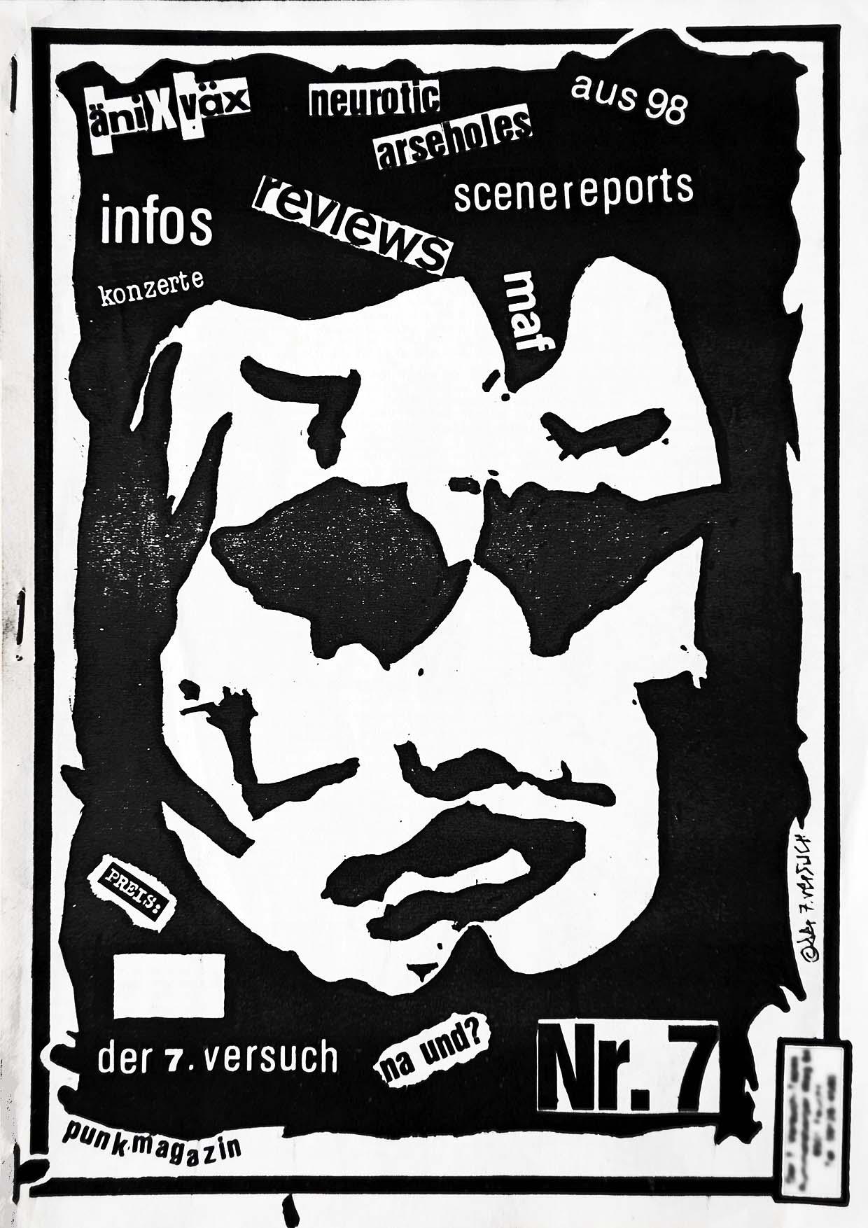Der 7. Versuch - Ausgabe 7 - Seite 01 - Fanzine - 1985