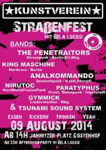 Flyer - Kunstverein - Strassenfest - Penetraitors - 2014 - FrankenPunk