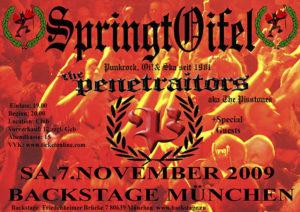 Flyer - Penetrators - München - 2009 - FrankenPunk