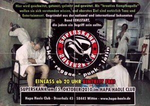Flyer -Superskank - Witten - 2010 - FrankenPunk