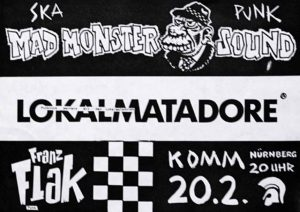 Flyer - Frank Flak - Komm - FrankenPunk