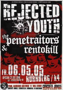 Flyer - Penetraitors - Rejected Youth - K4 - 2005 - FrankenPunk