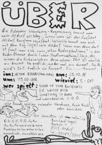 Flyer - Weisse Rose - Something To Burn - C.O.D. - 1988 - FrankenPunk