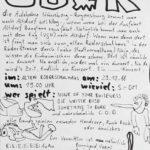 Flyer - Weisse Rose - Something To Burn - C.O.D. - 1988 - FrankenPunk