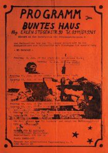 Flyer - Buntes Haus - Erlenstegen - FrankenPunk