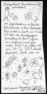 Flyer - Die Weisse Rose - Something To Burn - JuZ Feucht - 1988 - FrankenPunk