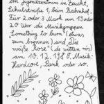 Flyer - Die Weisse Rose - Something To Burn - JuZ Feucht - 1988 - FrankenPunk