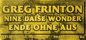 Flyer - Greg Frinton - Ende ohne Aus - 1997 - FrankenPunk
