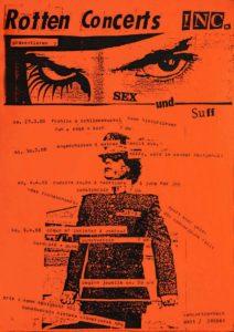 Flyer - Rotten Concerts Inc. - 1988 - FrankenPunk