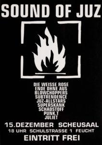 Flyer - Superskank - Die Weisse Rose - Ende ohne Aus - JuZ Feucht - 1998 - FrankenPunk
