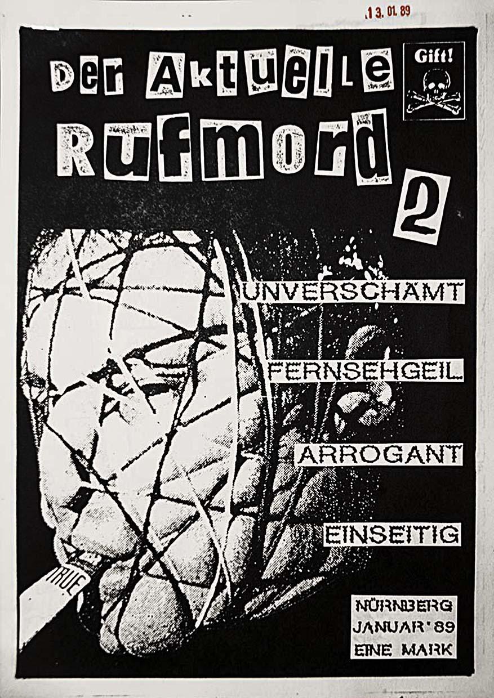 Der Aktuelle Rufmord - Ausgabe 2 - Fanzine - 1989