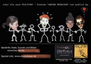 Flyer - Fehlstart - Andere Menschen - 2000