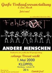 Flyer - Fehlstart - Andere Menschen - Kluepfel - 2000