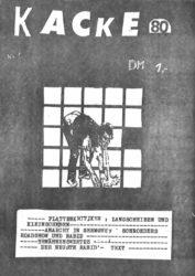 Kacke - Ausgabe 1 - Seite 01 - Fanzine - 1980
