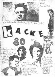 Kacke - Ausgabe 2 - Seite 01 - Fanzine - 1980