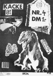 Kacke - Ausgabe 4 - Seite 01 - Fanzine - 1981