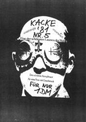 Kacke - Ausgabe 5 - Seite 01 - Fanzine - 1981
