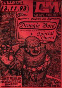 Poster - Droogie Bois - Kunstverein - 1993