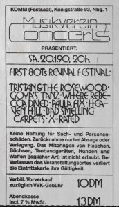 Ticket - Heaven Hill - Bad Smelling Carpets - Komm - 1990