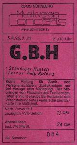 Ticket - Schweiger Hinten - Komm - 1988