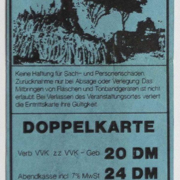 Ticket - Trash Will Eat Big Culture - 1990