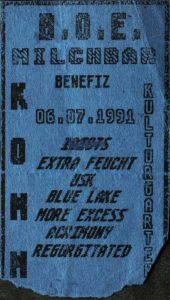 Ticket - U.S.K. - Milchbar - Benefiz - Komm - 1991