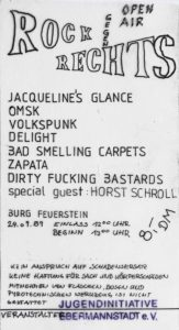 Ticket - Zapata - Omsk - Open Air - Burg Feuerstein - 1989