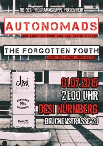 Flyer - Forgotten Youth - Desi - 2015