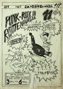 Flyer - Thumper - Talkin To The Toilet - C.O.D. - 1986