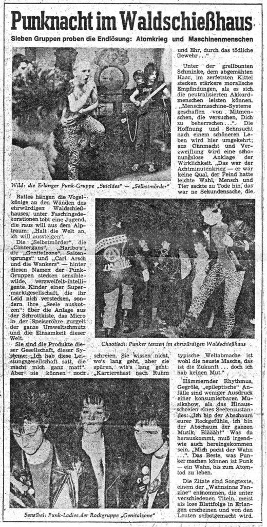 Genitalzone - Punknacht im Waldschiesshaus - 1981