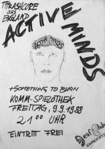 Poster - Something To Burn - Komm - 1988