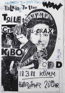 Poster - Talkin To The Toilet - Crawhill Crax - Komm - 1988