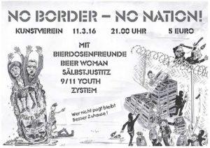 Flyer - 9-11 Youth - Sälbstjustiz - Kunstverein Strassenfest - 2016