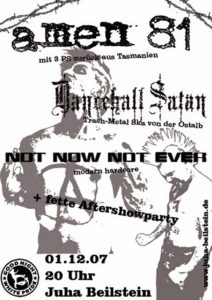 Flyer - Amen 81 - Beilstein - 2007