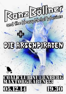 Flyer - Arschpiraten - Coal Club - 2014