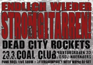 Flyer - Dead City Rockets - Coal Club - 2014