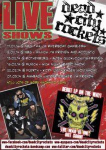 Flyer - Dead City Rockets - Tour - 2014