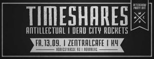 Flyer - Dead City Rockets - Zentralcafe - 2014